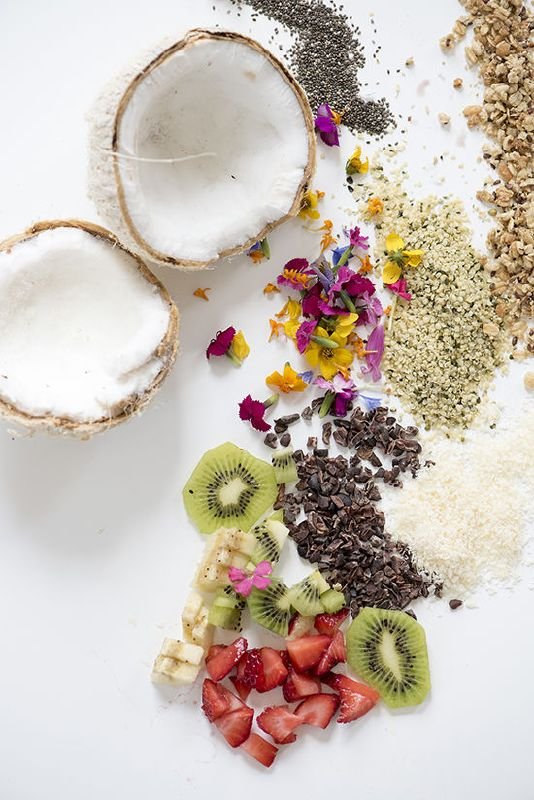 half of coconut acai coconut bowls recipe spa it girl