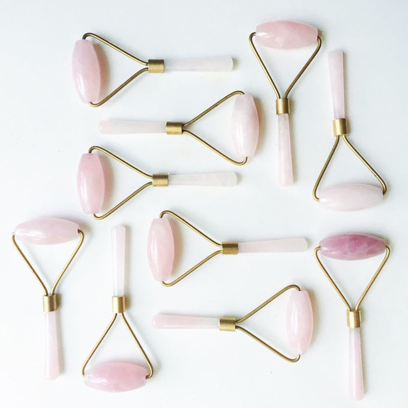 This Is How We Roll Rose Quartz Facial Roller Spa It Girl
